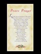 Laminated Holy Card Peace Prayer