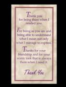 Holy Cards (pkt100): Thankyou