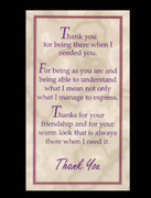 Laminated Holy Cards: Thankyou (LC7113)