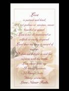 Laminated Holy Cards, Love