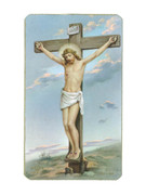 Holy Cards (pkt100) Gold Edging: Crucifixion