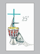 Laminated Holy Cards: 25th Anniversary