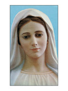 Laminated Holy Cards - Our Lady Medjugorje