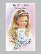 Holy Cards (pkt100): First Holy Communion Girl (HCC8113)