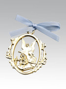 Crib Medal: Gold Guardian Angel Blue(CM1B)
