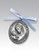 Crib Medal: Metal Mother & Child Boy