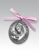 Crib Medal: Metal Mother & Child Girl