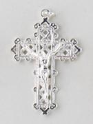 Small Crucifix: Silver Filigree 40mm (CR7535S)
