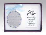 Crib Medal: A Gift of Love Blue