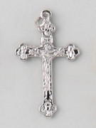 Small Crucifix: Silver Basilica 37mm (CRM37S)