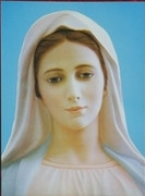 10 x 8 Print, Our Lady Medjugorje (Face)