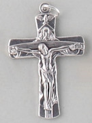 Small Crucifix: Silver Trinity 40mm (CRTR)