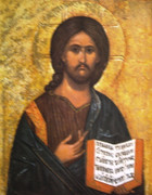 10 x 8 Print: Icon Image of Christ the Teacher #2