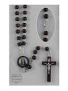 Wood Rosary: Round Bead Lourdes (RX61808)