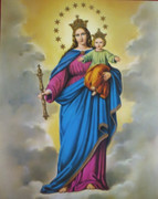 Gold Framed Print: Our Lady Help of Christians