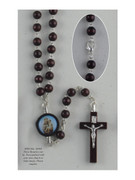 Wood Rosary: Round Bead St Anthony (RX61811)