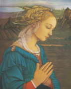 Wood Framed Print: Our Lady Praying