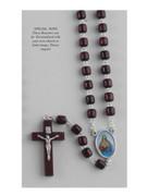 Wood Rosary Cylinder bead: Sacred Heart Jesus (RX72101)