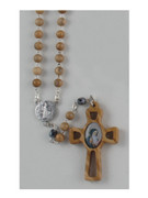 Wooden Rosary: St Benedict (RX5SB)
