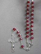 Glass Rosary, Red 6mm bead (RX326R)