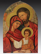 Arched Icon Plaque: Holy Family (PL14604)