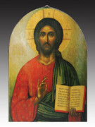 Arched Icon Plaque: Christ The Teacher (PL146CT)