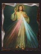 Carved Edged Wood Plaque: Divine Mercy (PL128258)