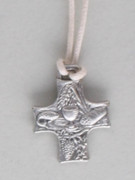 Communion Medal: Cross with Cord (MEC296C)
