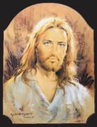 Icon Wood Plaque: Head of Christ (PL122430)