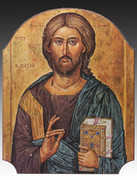 Icon Wood Plaque: Christ the Teacher (PL1224CT)