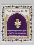 Communion Pin: Angel with Swarovski Crystal (TT185)