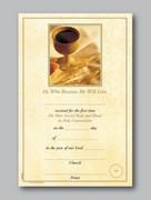 Communion Certificate, He who Receives...