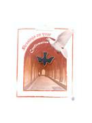 Confirmation Pin: Blue Enamel Dove (LP51086)