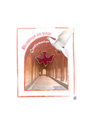Confirmation Pin Red Enamel Dove (LP51085)