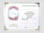 Confirmation Certificate: Landscape Dove Pink Flowers (CEF46003)
