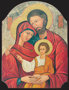 Icon Wood Plaque: Holy Family (PL122404)