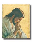Quality Wood Plaque: Jesus in Prayer (PL102CP)