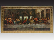Quality Gold Foiled Wood Plaque: Last Supper (PL129)
