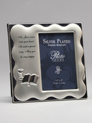 Communion Gift Photo Frame: Silver Plated Scallop(PLC1463)
