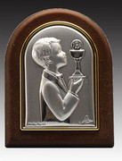 Communion Gift Sterling Silver Plaque Boy(PL333CB)