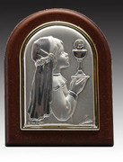 Communion Gift Sterling Silver Plaque GIRL(PL333CG)
