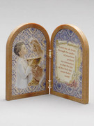 Communion Gift Bi-fold Plastic Plaque Boy(PL1111CB)