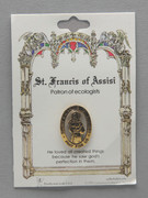 Patron Saint Pin: St Francis Patron of Animals/Ecologists (TS08)