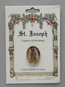 Patron Saint Pin: St Joseph Patron of Fathers & Workers (TS07)