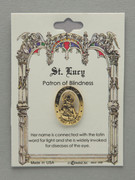 Patron Saint Pin: St Lucy Patron of Impaired Vision (TS42)