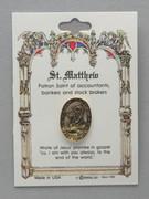 Patron Saint Pin: St Matthew Patron of Accountants (TS10)