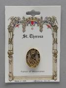 Patron Saint Pin: St Theresa Patron of Missionaries (TS13)