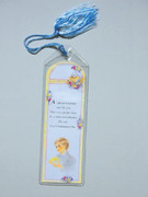 Tassel Bookmark: Communion Boy Yellow