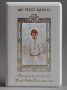 Children's Missal, Pearl Shimmer Cover: 1st Communion Boy(BK4128B)
