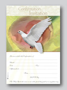 Invitation Set - Confirmation Dove (20)